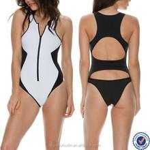 2015 hot promotional items china swimwear factory sexy one piece swimwear zip unlined swimwear