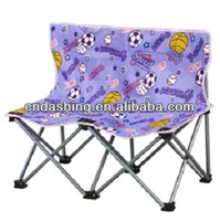 Folding double camping chair for kids