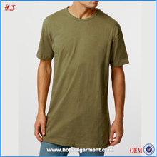 High Quality T Shirt Design Wholesale China Long Line T-Shirt Men Fashion Plain Blank Tshirts