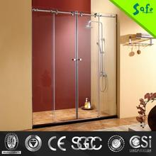 4 sided safety tempered glass sliding shower stall shower screen