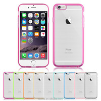 For iPhone 6 color TPU bumper clear back cover case