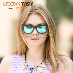 2015 Cheap Wooden Women Sunglasses China Factory With Custom Logo
