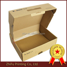 plain postage mailer size kraft paper box with handle