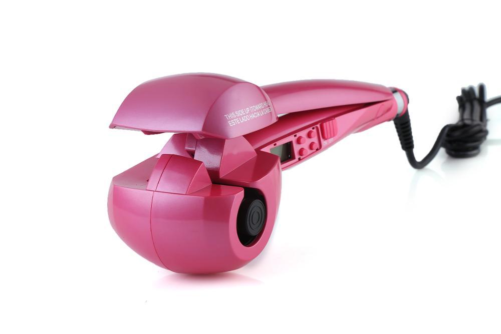 new large barrel ceramic auto korean balance rotating curler wand hot tools hair curling iron