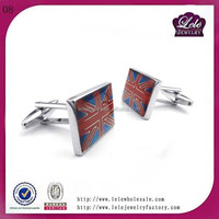 online wholesale shop 316L stainless steel mens cufflinks high quality USA national flag shape cufflinks