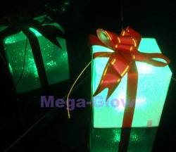 2016 christmas gift box with letter decoration light with CE ROHS standard PVC led christmas