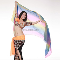 Colorful Large sexy Belly Dance Chiffon Veil