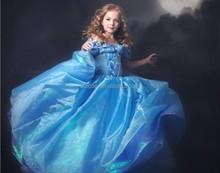 TZ-68131 2015 new styles Shine cinderella costume princess dress cinderella dresses for girls