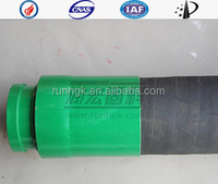 "Concrete pump parts six layer fabric rubber hose 2"" 3"" 4"" 5""X5000MM double end"