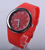 Japan movement Japan battery silicone watch quartz stainless steel back watch
