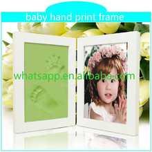 Mão do bebê argila impressão infantil quadro handprint almofada de carimbo para impressão