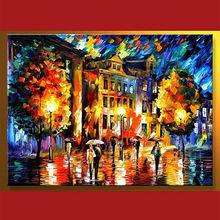 paisaje urbano moderno pintura al óleo