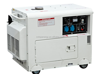 2015 New Hot Selling 5KVA Air Cooled Top open canopy Diesel Generator for easy maintenance