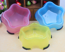 non-slipping plastic star shaped Pet Bowl