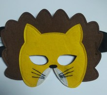 Cheapest!!! 2015 hot sale Spring felt Lion mask made in China