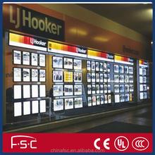 Real estate agent advertising LED light box