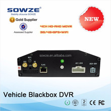 h.264 720p 4ch vechile 3g mobile dvr with gps wifi module for car bus truck taxi