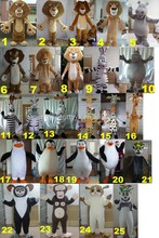 Adult movie/cartoon character mascot costume different designs on adult madagascar costumes for sale