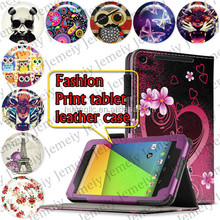 Stylish Printing Folding PU Leather Tabelt Case For Google Nexus 7 II 7 Inch Stand Folio Case Cover