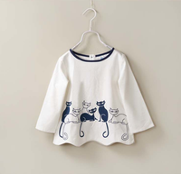 Kids Shirt Printed Kitten Printed Shirt Wholesale China Clothing Factories In China