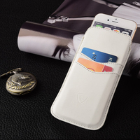 White Color Leather PU Pouch Phone Case, Universal Case For iphone 6 Pouch Case ,For iphone 6 Accessories Phone Case Leather