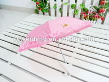 manual open pretty children pink umbrella