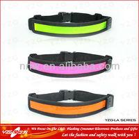 sports goods led flashing outdoor Belt waist Elastic velcro strap