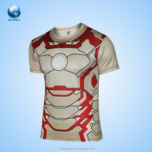 2015 high quality compression wear&new arrival all over sublimation printing t-shirt&nice cycling jersey