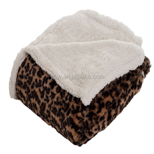 soft and bright leopard printing mandala throw mink blanket