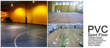 Indoor International Standard Marple Pattern PVC basketball Flooring