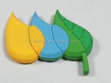 new design usb leaf shape usb flash drive pvc usb disk memory pen drive disk usb 2.0