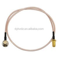SMA Female Jack to F Male Plug RF Coaxial RG316 RF Antenna WiFi Pigtail Cable 50cm