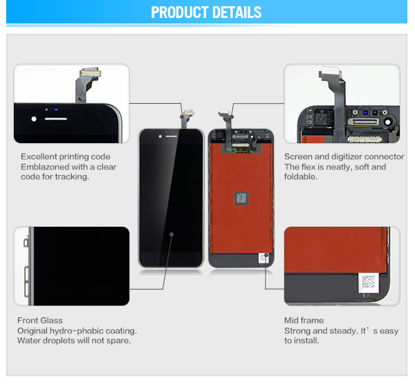 Lcd touch display replacement digitizer screen for iphone 6 lcd