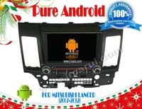 Pure Android 4.2 car audio dvd gps system with Capacitive touch screen for MITSUBISHI LANCER(2006- 2013),3G ,WIFI ,support OBD