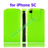 Vertical Flip Leather Cover for iPhone 5C Case with Card Slots and Holder
