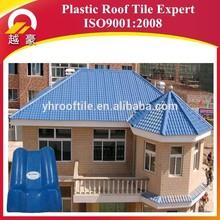 azulejo de plástico del techo impermeable con perfiles de cubierta de resina sintética