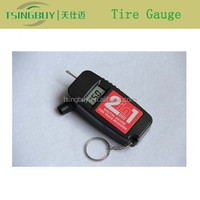 Best high precision digital tyre gauge keychain and tire tread depth gauge built in one device