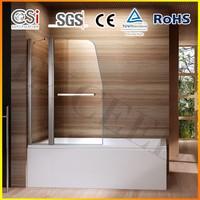 Quality Bath Shower Glass Screen 180 Pivot Radius New Design with Towel Rail