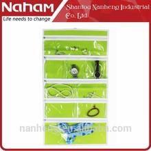NAHAM bolsa cosmética de 9 bolsillos de jotería colgando el organizador de almacenamiento