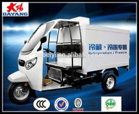 Gasoline 250cc Water Cooling Refrigerated Storage Adult Tricycle In Angola
