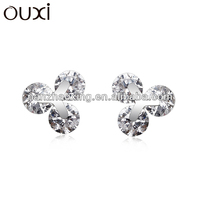 2015 cheap 925 sterling jewelry studs platinum plating 925 silver