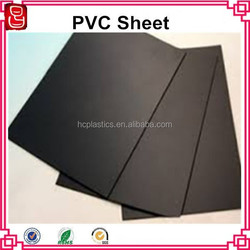 Solid hard and durable rigid PVC dark grey board