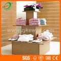 3 Tier Square pantalla de madera soporte de mesa para tienda de ropa