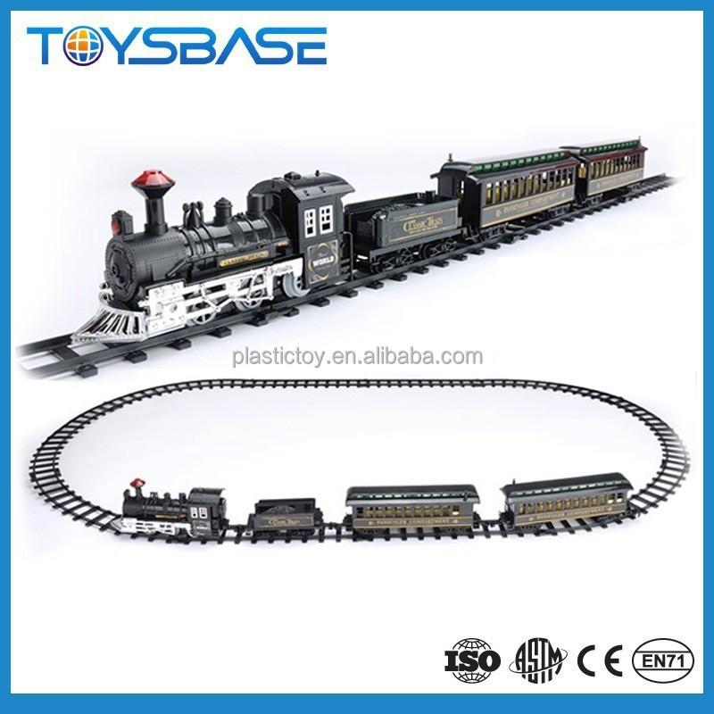 China atacado elétrica a pilhas brinquedos de plástico Set grande escala Ho modelo de trem trem de brinquedo 1779 para crianças