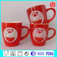 red ceramic mug wholesale with handle
