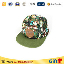 High resolution digital printed black fedora hat with white band