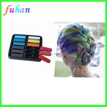 Diect venta de la fábrica del pelo temporal tizas de colores, 12 unids pastel tiza