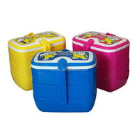 New handle four layers plastic food container with BPA free