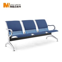 Metal Cheap Price Stainless Steel 3-Seater Waiting Chair