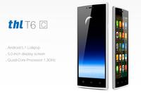 Latest Phone Original Android 5.1 MTK6580 Quad Core 5 Inch IPS RAM 1GB ROM 8GB 5MP Camera Unlocked 3G THL T6C Smartphone